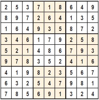 Solution Sudoku 4